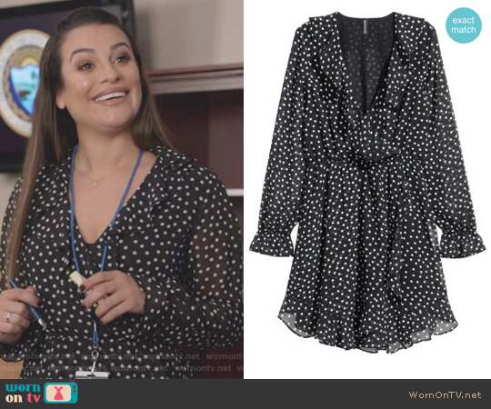 Wrap Dress by H&M worn by Valentina Barella (Lea Michele) on The Mayor