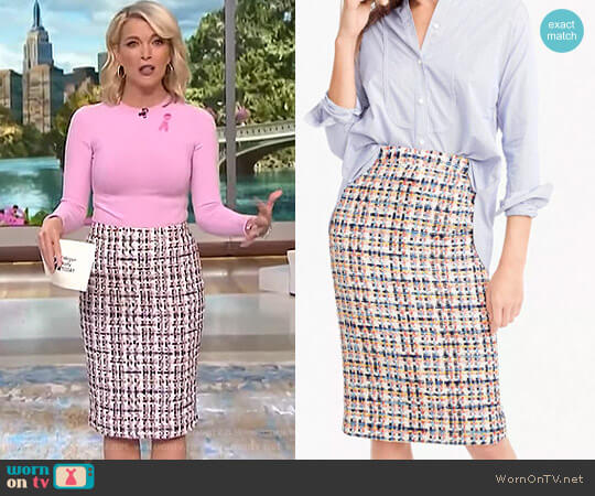 Pencil Skirt in French Tweed by J. Crew worn by Megyn Kelly on Today