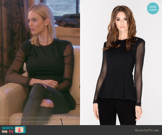 Tia Pleated Top by J.Dosi worn by Meghan King Edmonds on The Real Housewives of Orange County