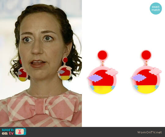 ban.do Jennifer Loiselle Sunset Earrings worn by Kristen Schaal on Last Man On Earth
