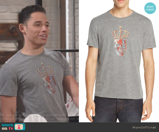 Crowned Skull Graphic Tee by John Varvatos