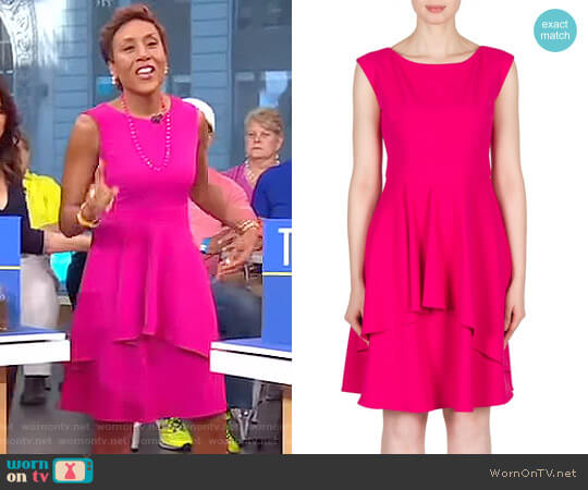 Dress Style 173409 by Joseph Ribkoff worn by Robin Roberts on Good Morning America