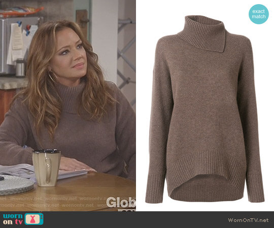 Roll Neck Sweater by Joseph worn by Leah Remini on Kevin Can Wait