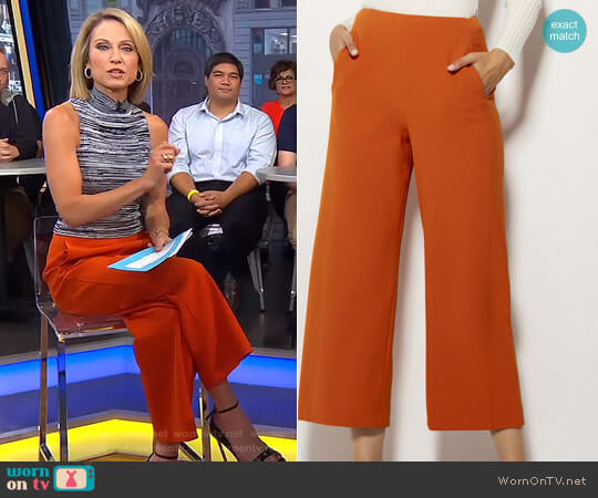 High Waisted Wide-Leg Trousers by Karen Millen worn by Amy Robach on Good Morning America