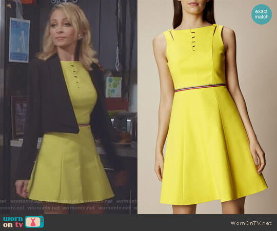 Lace Up Cotton Dress by Karen Millen worn by Portia Scott-Griffith (Nicole Richie) on Great News