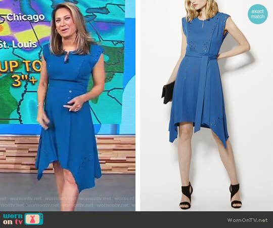 Midi Eyelet Dress by Karen Millen worn by Ginger Zee (Ginger Zee) on Good Morning America