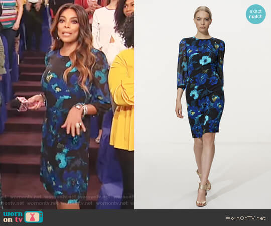 Karl Lagerfeld Paris Chiffon Dress worn by Wendy Williams on The Wendy Williams Show