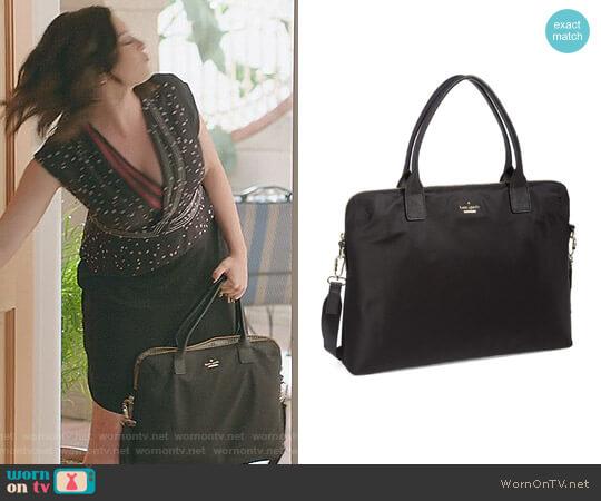 'Daveney' Laptop Bag by Kate Spade worn by Rachel Bloom on Crazy Ex-Girlfriend