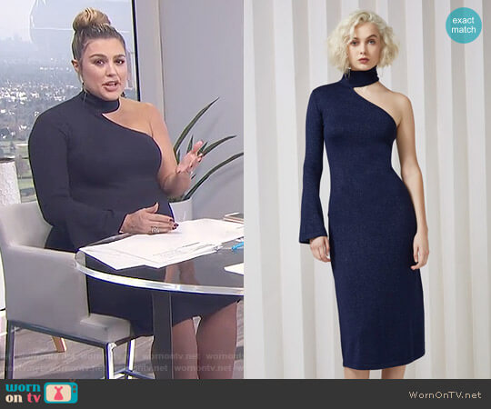 'Shimmer' Knit Dress by Keepsake worn by Carissa Loethen Culiner on E! News