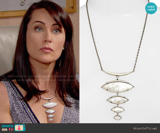 Kendra Scott Morris Bib Necklace worn by Rena Sofer on The Bold & the Beautiful