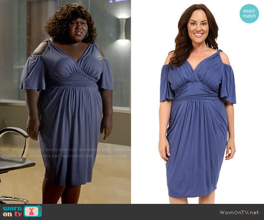 Kiyonna Tantalizing Twist Dress worn by Gabourey Sidibe on Empire