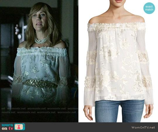 Kobi Halperin Charmaine Blouse worn by Kristen Wiig on Last Man On Earth