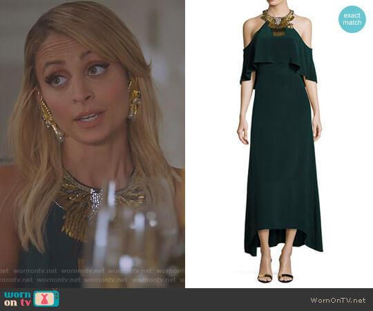 'Kellen' Evening Gown by Kobi Halperin x Erte worn by Portia Scott-Griffith (Nicole Richie) on Great News