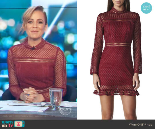 Tiffany Lace Dress by Lioness worn by Carrie Bickmore  on The Project