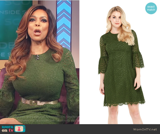 London Times Daphne A-Line Dress by Maggy London worn by Wendy Williams on The Wendy Williams Show