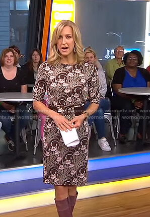 Lara's brown floral dress on Good Morning America