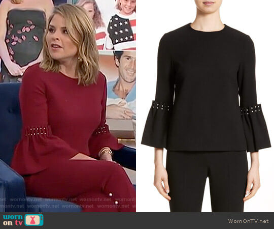 Pearly Trim Tunic by Lela Rose worn by Jenna Bush Hager  on Today
