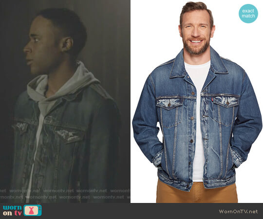 Big & Tall Big & Tall Trucker Jacket by Levis worn by Khylin Trejon Rhambo on Teen Wolf