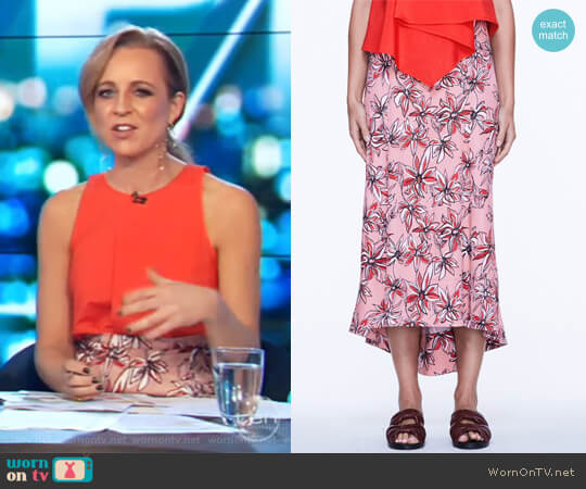 Spirit Shadows Skirt by Life with Bird worn by Carrie Bickmore on The Project