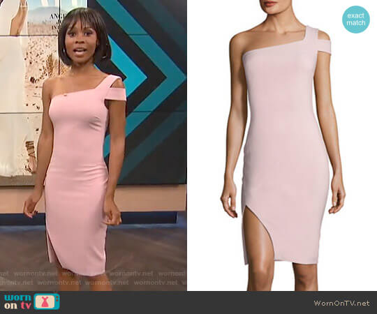 'Packard' One-Shoulder Cocktail Dress by Likely worn by Zuri Hall  on E! News