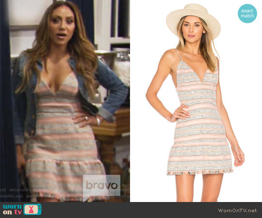 Heidi Mini dress by Lovers + Friends worn by Melissa Gorga on The Real Housewives of New Jersey