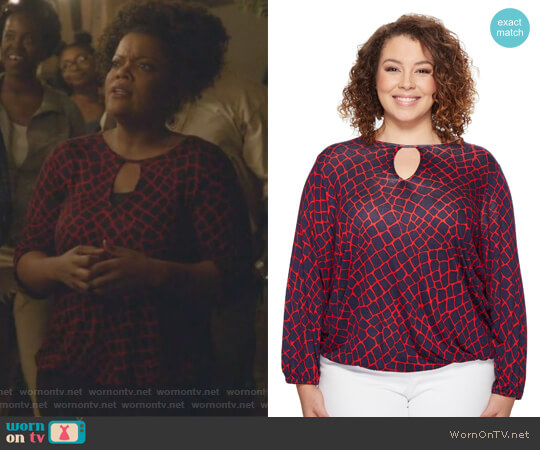 Nyla Top by MICHAEL Michael Kors worn by Dina Rose (Yvette Nicole Brown) on The Mayor