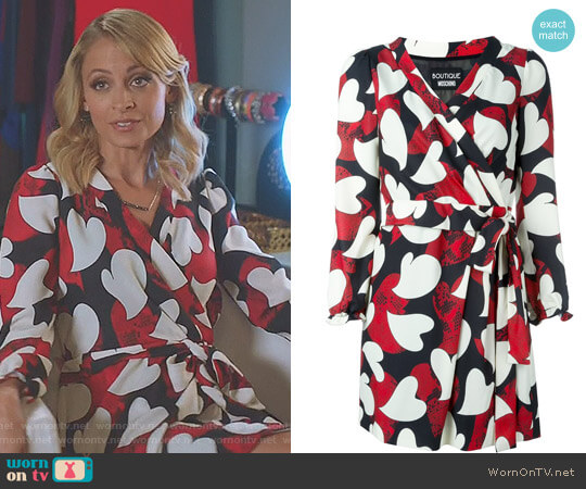 Printed A-Line Dress by Moschino worn by Nicole Richie on Great News