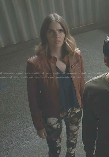 Malia's black floral jeans on Teen Wolf