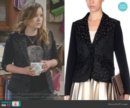 Leopard Blazer by Marc By Marc Jacobs worn by Kendra Gable (Taylor Spreitler) on Kevin Can Wait