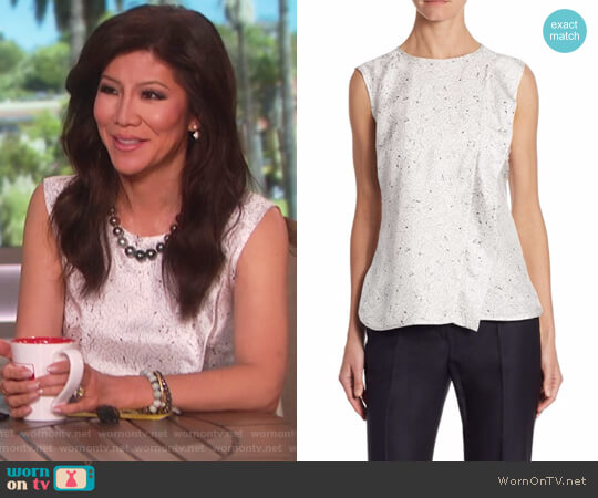 Anversa Constellation-Print Silk Tank Top by Max Mara worn by Julie Chen on The Talk