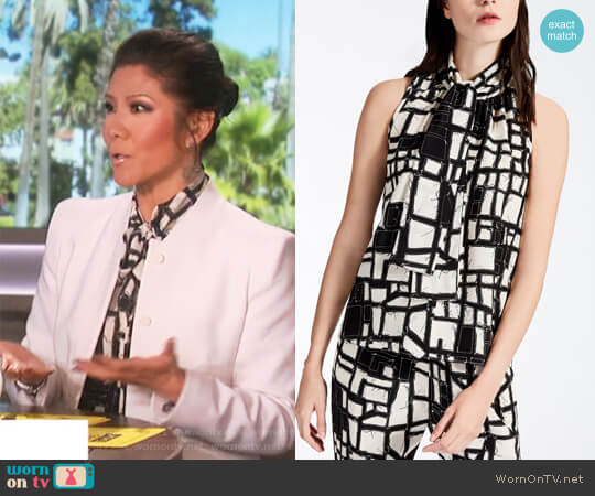 Silk Crepe De Chine Top by Max Mara worn by Julie Chen  on The Talk
