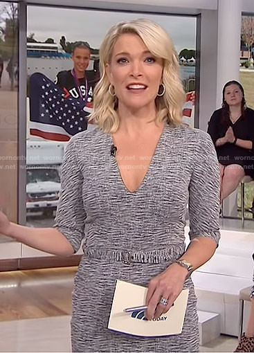 Megyn's space dye belted dress on Megyn Kelly Today