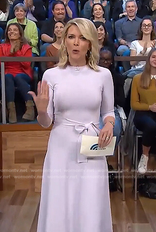 Megyn's white tie waist dress on Megyn Kelly Today