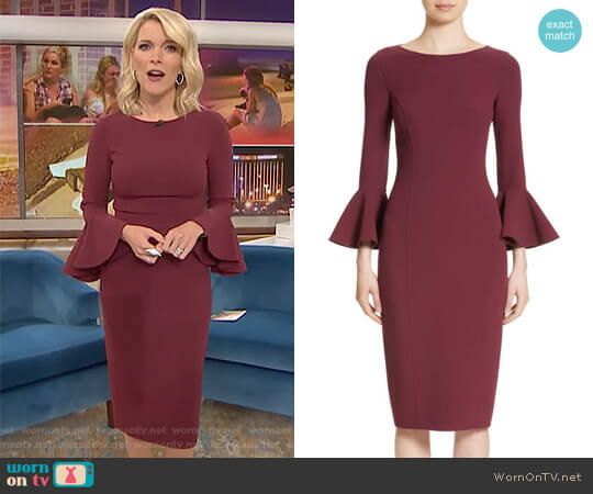 Bell Cuff Sheath Dress by Michael Kors worn by Megyn Kelly on Today