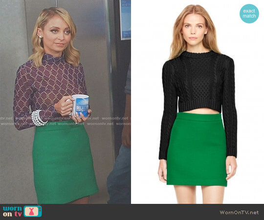 Doubleface Wool Modern Mini Skirt by Milly worn by Portia Scott-Griffith (Nicole Richie) on Great News