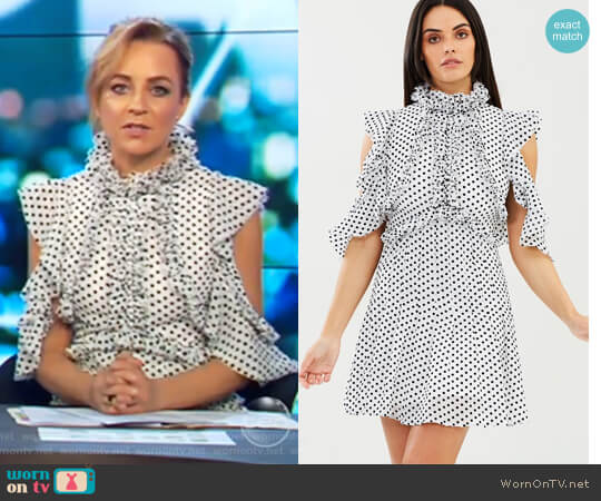 She Spotted Me Dress by Mossman worn by Carrie Bickmore  on The Project