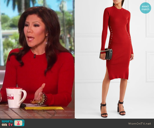 Slim-fit Knitted Dress by Mugler worn by Julie Chen on The Talk