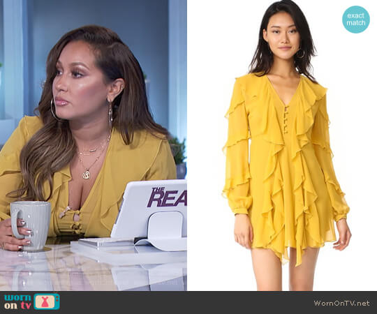Ruffle Mini Dress by Nicholas worn by Adrienne Houghton on The Real