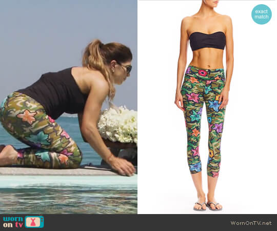 Pop Flower Swim Leggings by Nicole Miller worn by Teresa Giudice on The Real Housewives of New Jersey
