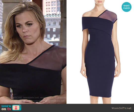 Nookie Asymmetric Neckline Dress worn by Gina Tognoni on The Young & the Restless
