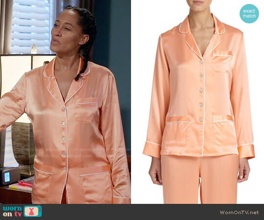 Olivia von Halle Silk Pajamas worn by Tracee Ellis Ross on Blackish