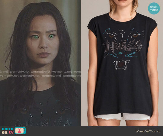 Onca Brooke Tee by All Saints worn by Jamie Chung on The Gifted