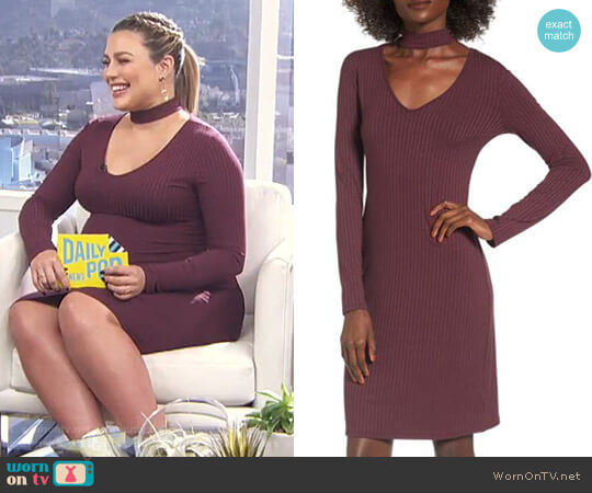 Ribbed Choker Dress by One Clothing worn by Carissa Loethen Culiner  on E! News