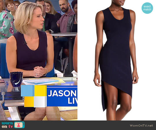Diagonal Seam Dress by Opening Ceremony worn by Amy Robach on Good Morning America