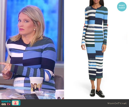 Space Dye Maxi Dress by Opening Ceremony worn by Sara Haines  on The View