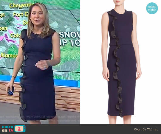 Ruffle Cropped Top by Opening Ceremony worn by Ginger Zee  on Good Morning America