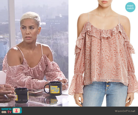 'Renzo' Cold-Shoulder Top by Parker worn by Sibley Scoles (Sibley Scoles) on E! News