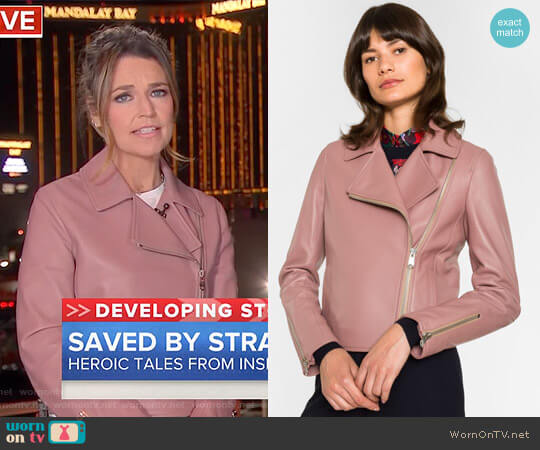 Biker Jacket by Paul Smith worn by Savannah Guthrie on Today