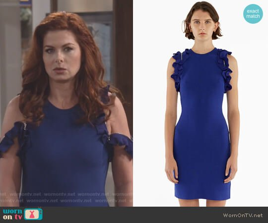 Ruffled Tank Dress by 3.1 Phillip Lim worn by Debra Messing on Will & Grace