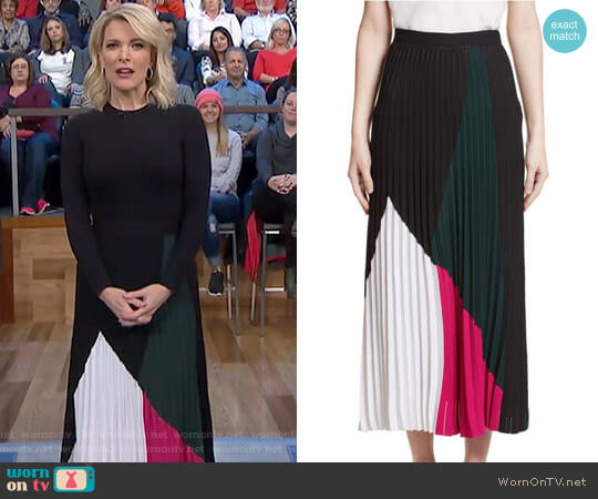 Colorblock Knit Skirt by Proenza Schouler worn by Megyn Kelly on Today